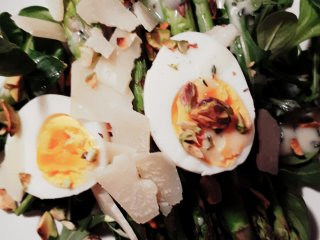 salade asperges pistache citroen tijm