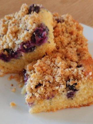 blauwe bessen crumble cake