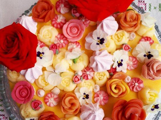 taart bloemen