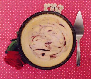 20191026 125033 300x261 - Koken met Heleen: Cheesecake met frambozen swirl!