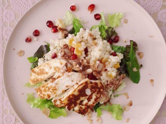 couscous salade halloumi